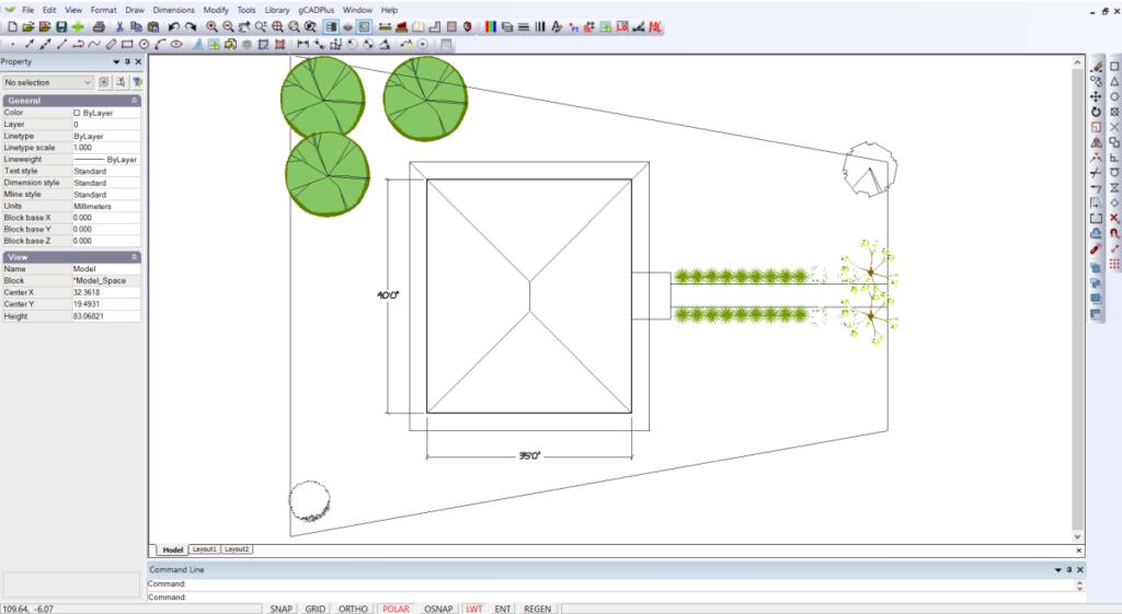 Create simple landscape plans